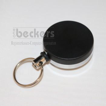 Schlüsselaufroller Jojo Kartenhalter 40mm Metall