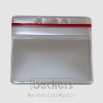 Ausweishülle transparent wasserdicht Zip-Lock 70 x 100