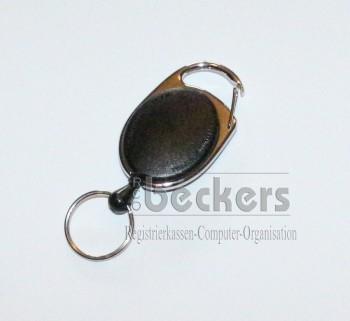 1 Stück Kartenhalter Jojo Oval mit Schlüsselring schwarz
