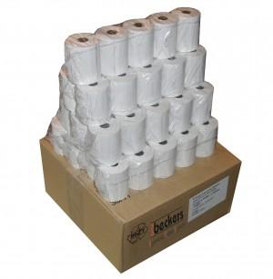 50 Kassenrollen Thermorollen 57,5 x 25 x 12 weiß blanko