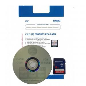 Casio CESF Software DVD mit Lizenz GDPdU SE-S Serie mit SD Karte