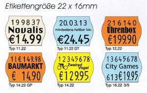 Etiketten 22x16 Wellenrand für premium 11.22 - 16.22