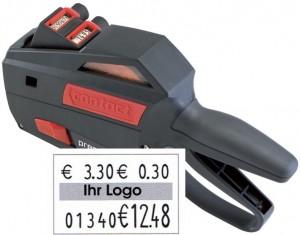 contact premium20.16Pfand Warenauszeichner für Etiketten 25x16 mm.